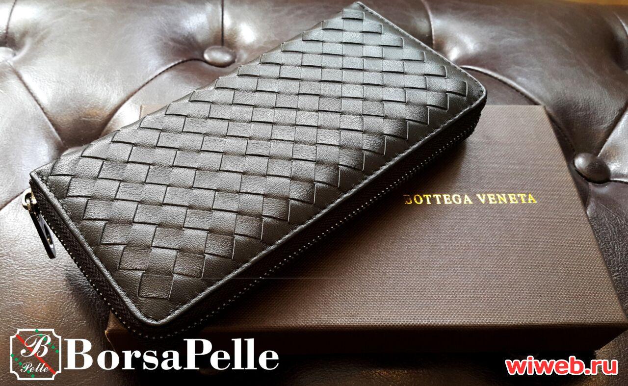 670f6d3fbdf6 Кошелек портмоне мужской Bottega Veneta черный в Москве #100704221