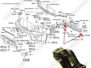 Крепление бампера на Toyota Tundra UPK50;UPK51;UPK52;UPK55;UPK56;UPK57;UCK51;UCK52;UC