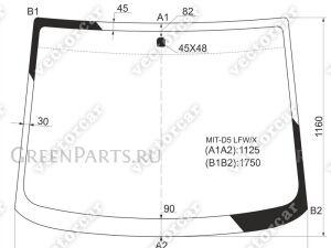 Стекло лобовое на Mitsubishi DELICA D:5 CV5W