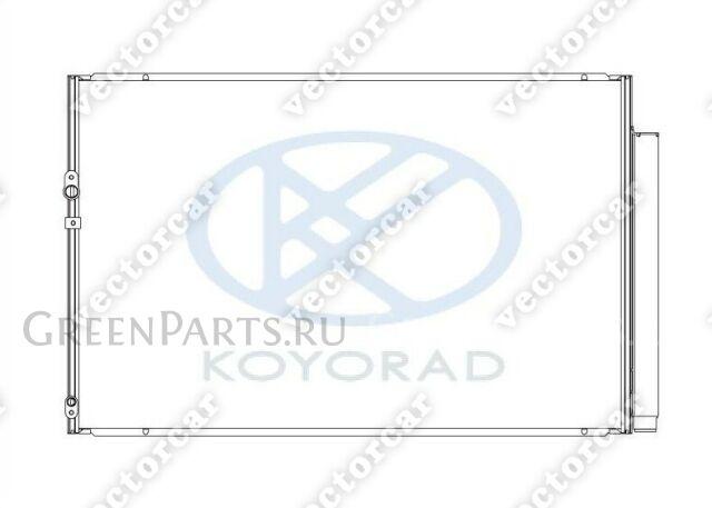 Радиатор кондиционера на Toyota Noah ZRR70;ZRR75