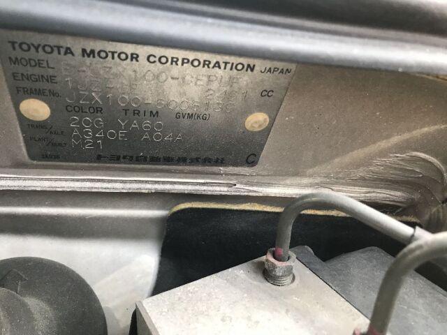 Козырёк от солнца на Toyota Cresta JZX100