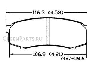 Тормозные колодки на Toyota Land Cruiser Prado TRJ125W 2TR-FE