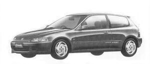 HONDA CIVIC 1992 г.