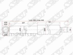 Амортизатор на Honda Airwave LA-RN3, DBA-GB1, DBA-GD9, DBA-GD8, DBA-GJ2, LA-GK2 L13A6, L13A5, L13A2, L13A1, L12A4, L12A1, R18A2, N